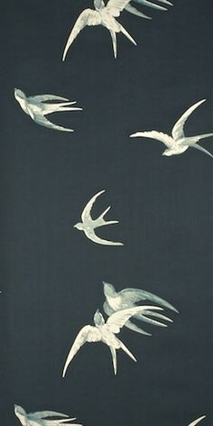 swallows (w) by sanderson wallpapers