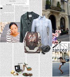 """BG-impression Vintage Embroidery Short Skirt by ZANZEA"" by mirelakljajic ❤ liked on Polyvore"