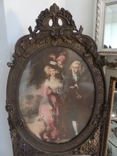 Fabulous Huge Antique French Gesso Trumeau by thequeensstuff