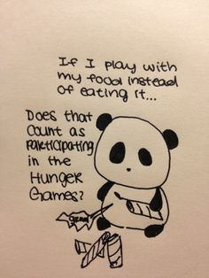 Sad Panda wants in on all the Hunger Games hype