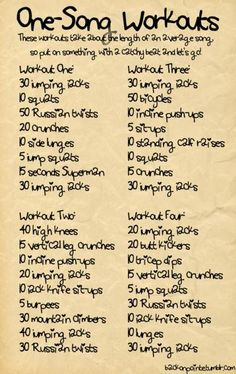 Single Song Workouts