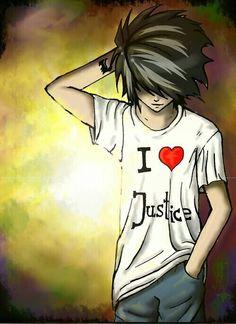 Imagen de death note, L, and justice