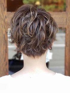 無造作立体ショート♪ in 2020 Short Hair Back, Short Choppy Hair, Short Curly Haircuts, Short Hairstyles For Thick Hair, Haircut For Thick Hair, Short Hair With Layers, Cut My Hair, Short Hair Cuts, Shot Hair Styles