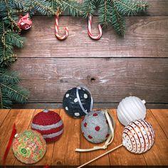 Tempex kerstballen met foam clay