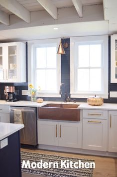 Discount Kitchen Cabinets Cleveland Ohio 2020 - Home Comforts 2 Drawer Kitchen Cabinets, Kitchen Cabinet Kings, Discount Kitchen Cabinets, Modern Farmhouse Kitchens, Home Kitchens, Living Room Decor Fireplace, Open Concept Kitchen, Modern Kitchen Design, Contemporary Decor