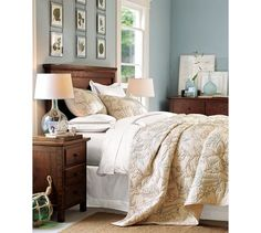 Mason headboard and nightstand from PB we would like for master bedroom $699 headboard, $399 nightstand