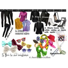How To: Dress like a Transylvanian from The Rocky Horror Picture Show by brunettebarbiegirl on Polyvore featuring Acne Studios, Thakoon Addition, Doublju, J.TOMSON, Yves Saint Laurent, Boohoo, Topshop, sass & bide, adidas and Proenza Schouler