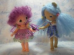 Beautifully crocheted dolls of all sizes with just as beautiful clothing, all free patterns. They're all in the side bar.