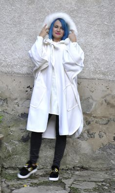Excited to share the latest addition to my #etsy shop: NEW White Wool Cape/Woman White Wool Coat/Hooded Loose Cape/Oversize Cape/Plus size Cape/Maxi Coat/Fur Fox Hooded Coat/Maxi Long Cloak/C0375 http://etsy.me/2iVVLcg #clothing #women #jacket #bridalshower #christmas #woolcoat