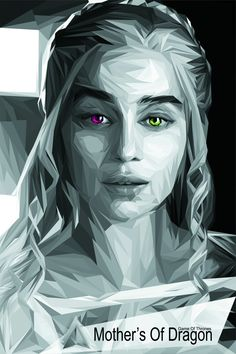 Emilia Clarke #grayscale #polypop