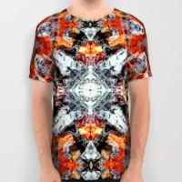 Fire background pattern All Over Print Shirt
