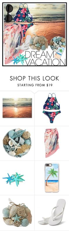 """#PolyPresents: Dream Vacation"" by mldyasa on Polyvore featuring Pier 1 Imports, Maryan Mehlhorn, Casetify, Hotmarzz, Carla Zampatti, contestentry and polyPresents"