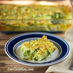 Spiralized Zucchini Casserole - Gluten Free | Low Carb Yum