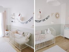 A beautiful baby room with a Odette swan trophy – girl painting idea Source by