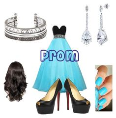 """""""Prom"""" by afashionfangirl230 ❤ liked on Polyvore featuring Christian Louboutin, BERRICLE and Essie"""