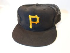 VINTAGE/UNWORN Pittsburgh Pirates MLB Baseball Hat Snap Back Mesh One Size #OfficialMLB #PittsburghPirates