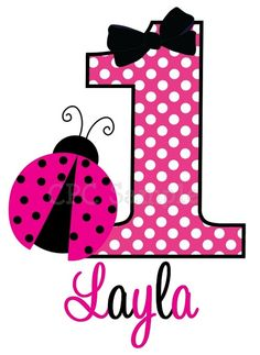 Ladybug Birthday T Shirt Personalized, Onesie, Bodysuit, Hot Pink