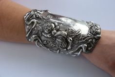 Victorian Silver-Plate Armlet Roses Gladiator by CelebLuxe on Etsy
