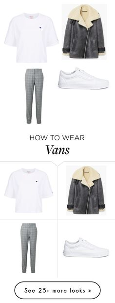 """Untitled #2586"" by alessiaaaaaaaaa on Polyvore featuring TIBI, Vans, MANGO and Champion"