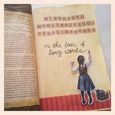 @ankeart  | The fear of long words | Season of Words | Get Messy Art Journal