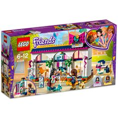 LEGO Friends - Andrea's Accessories Store and thousands more of the very best toys at Fat Brain Toys. Build a beautifully detailed boutique store packed with all sorts of exciting accessories! There's a fitting room that spins. Shop Lego, Buy Lego, Lego Disney, Lego Friends, Lego Ninjago, Legos, Tile Patterns, Sewing Patterns, Batman Lego