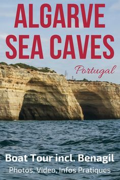Portugal Algarve - Photos and video of the awesome Boat trip to the Algarve Caves and along the coastline - Discover many of the Grottos including the stunning Benagil sea Cave !        ** Portugal Travel | Portugal beach | Portugal things to do | Algarve Beach