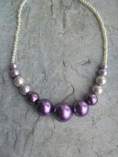 Simple homemade purple necklace by JHFWBeadsAndFindings at #Etsy #jewelry #jewellery #Jewelery #homemade