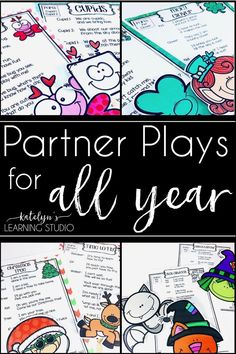 Fun partner plays for all year long to practice fluency for beginning elementary readers. Holiday readers theaters activities provide great reading practice for first and second graders.