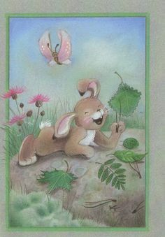 by Kaarina Toivanen Funny Drawings, Rabbit Art, Bunny Art, Christmas Scrapbook, Cute Illustration, Craft Activities, Clipart, Cute Pictures, Glass Art