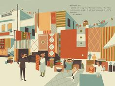 """Mr. Mustard visits Morocco"" print by Chris Turnham Words by Ian Samuels"