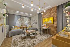 60+ Modelos de Decoração de Quarto Infantil - Fotos Kids Decor, Home Decor, Kids Room, Conference Room, Divider, Interior Design, Bedroom, Table, Furniture