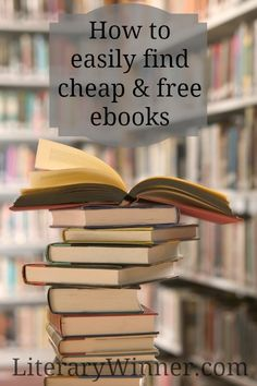 How to easily find ebooks for cheap or FREE