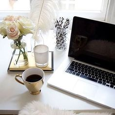 Coffee and online shopping. // Follow @ShopStyle on Instagram to shop this look