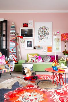37 Cute Pink Living Room Design Ideas - Modul Home Design Decor, House Design, Room Design, Interior, Living Room Colors, Home Decor, Colourful Living Room, Interior Design, House Colors