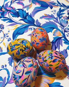 "Alexandra Farmer on Instagram: ""Egg details! I think ill do more 🥚 🎨 ⠀ ⠀ #floralprint #color #textiledesigner #patterndesigner #fashion #pattern #illustrator…"""