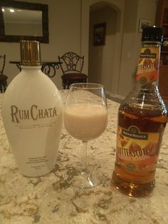 THE SALTED NUT ROLL: 3/4 part RumChata 1/4 part Butterscotch schnapps Rim shot glass with salt (you can just sprinkle some salt into salt glass too)