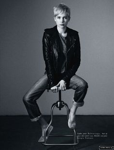 Michelle Williams in Hobo Magazine (all I need is a leather jacket)