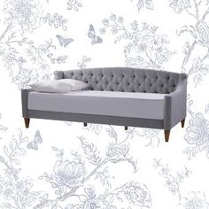 Willa Arlo Interiors Elof Twin Daybed & Reviews | Wayfair Trundle Mattress, Twin Daybed With Trundle, Wood Daybed, Upholstered Daybed, Daybed Room, Couch Cushions, Sofa Bed, Sleeper Sofa, Couches
