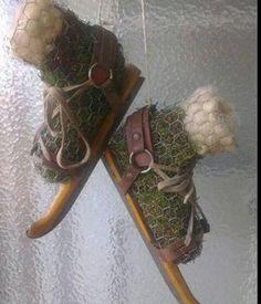 Ze haalt een rol kippengaas gratis af... bekijk snel wat voor een prachtige winter decoratie zij hiermee maakt! - Zelfmaak ideetjes