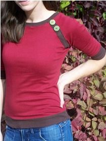 Tutorial: Bands and Buttons Raglan Top · Sewing | CraftGossip.com