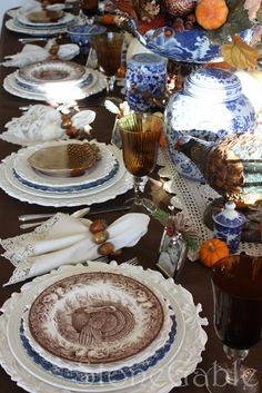 Thanksgiving Table and Giveaway Winner - StoneGable