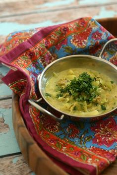 Punjabi Style Chicken Soup with Cabbage Recipe
