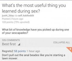 The most useful thing you've learned...