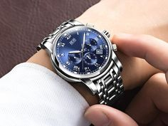 ANGELA BOS Sub Dial Work Waterproof Luminous Mens Watches Top Brand Luxury 2016 Men's Watches Quartz-watch Wrist Watches For Men Who like it ?  #shop #beauty #Woman's fashion #Products #Watch