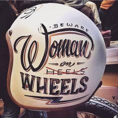 Custom Helmets & Gear Inspiration   Bobber & Chopper Motorcycles   Old school vintage style bike art & apparel  @brusco artwork on @hedonworkshop helmet