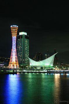 Kobe, Japan MOSAIC by tomosang R32m, via Flickr