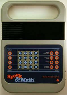My mother thought I could use this to help me in math. Still not good in math maybe I need to find a Speak&Math.....