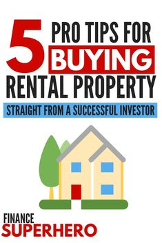 Are you interested in buying your first rental property? Look no further - this experienced and successful investor is sharing his best real estate investing tips to help you get started. If you're a beginner or looking to add your rental portfolio. Real Estate Rentals, Real Estate Tips, Home Buying Tips, Money Saving Tips, Money Tips, Investment Tips, Investment Group, Investment Books, Investment Portfolio
