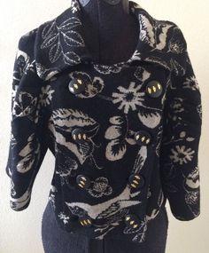 Anthropologie Leifsdottir Crop Sweater Floral Bird Knit M 100 Cotton $248 | eBay