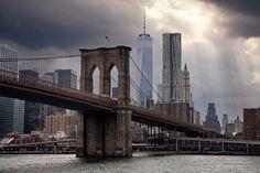 Downtown Manhattan #newyork #brooklynbridge before the #rain #storm
